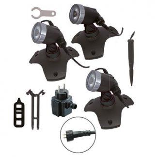 Stawy kąpielowe Aqualight 300 Power LED – zestaw 3 lampy